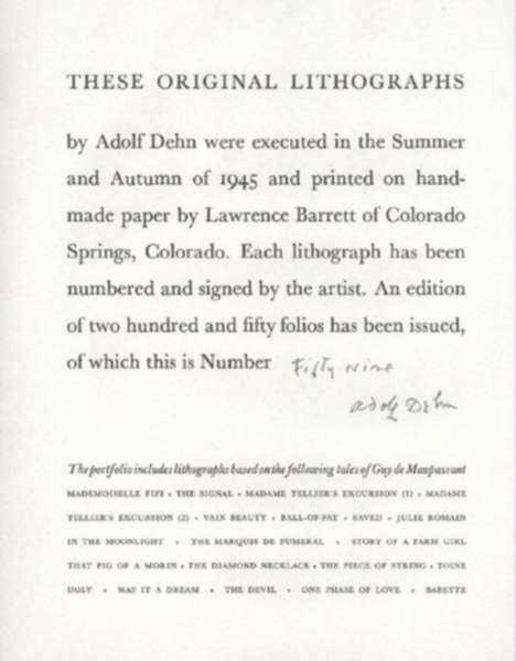 Title Page To Selected Tales Of Guy De Maupassant Series Childs