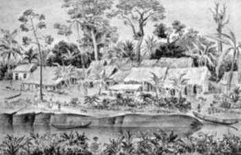 Print by Adolf Dehn: Venezuelan Village, represented by Childs Gallery
