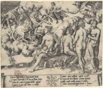 Print by after The Master of the Die: Rape of Ganymede, represented by Childs Gallery