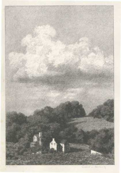 Print by Albert Barker: Deep Hollow, represented by Childs Gallery