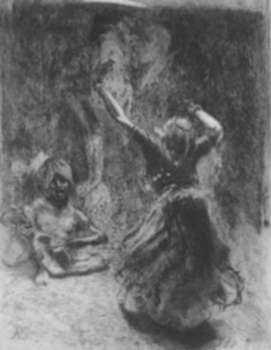Print by Albert Besnard: La Bayadere de Tanjore, represented by Childs Gallery