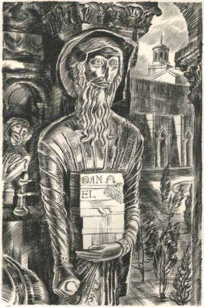 Print by Albert Decaris: Nouveaux Méandres: Cloister Detail - St. Trophime - Arles, represented by Childs Gallery