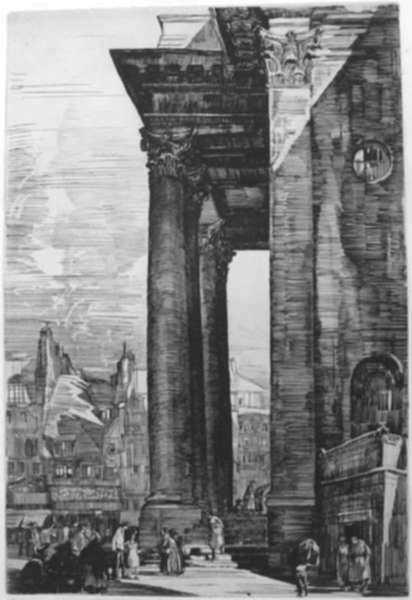 Print by Albert Decaris: St. Pierre de Besançon (Besançon - La cathédrale), represented by Childs Gallery