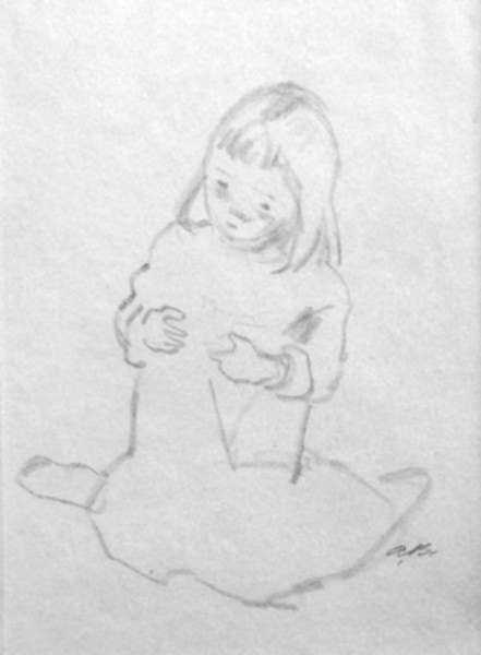 Drawing by Alexander Brook: [Little Girl], represented by Childs Gallery
