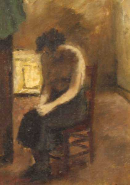 Painting by Alexander Brook: Sorrow, represented by Childs Gallery