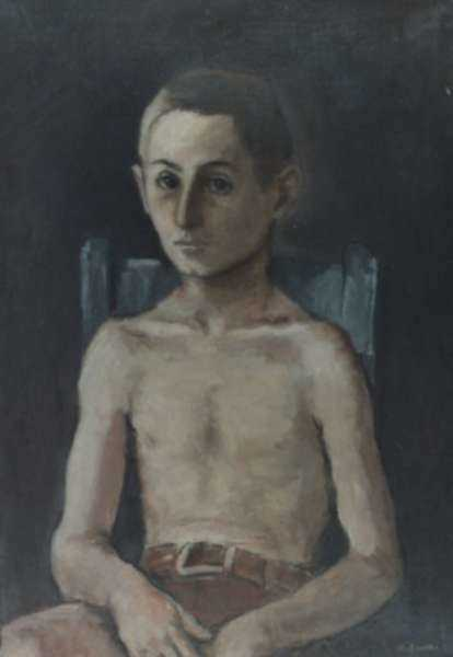 Painting by Alexander Brook: Young Boy in Chair, represented by Childs Gallery