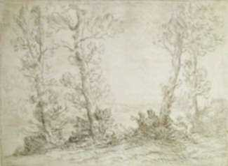 Print by Alphonse Legros: Le Pêcheur de Saumon (The Salmon Fisherman), represented by Childs Gallery