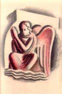 Watercolor by American School: Angel, represented by Childs Gallery