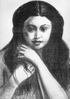 Print by André Derain: Femme de face, raie au milieu..., from Metamorphoses, represented by Childs Gallery