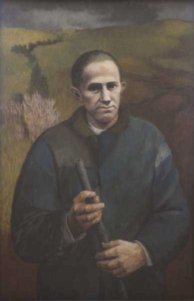 Painting by Anne Lyman Powers: Portrait of Milovan Djilas, represented by Childs Gallery