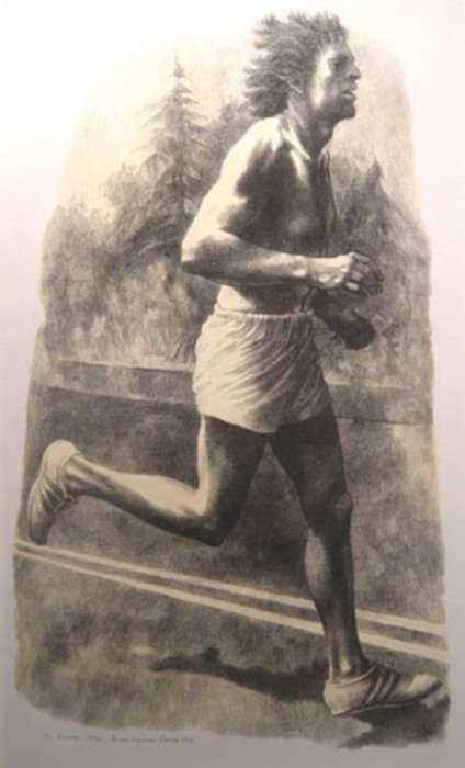 Print by Anne Lyman Powers: The Runner, represented by Childs Gallery