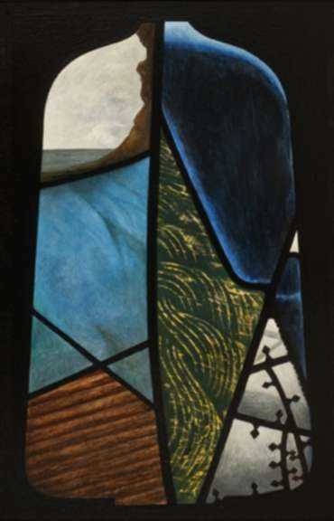 Painting by Anthony Moore: Pavise No. 1 Study, represented by Childs Gallery