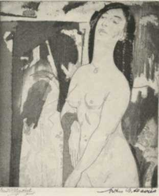 Print by Arthur B. Davies: Doorway to Illusion, represented by Childs Gallery