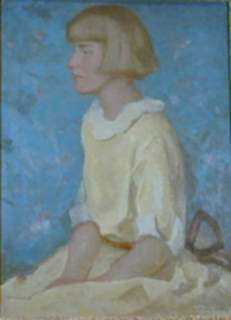 Painting by Beatrice Whitney Van Ness: Girl in Yellow, represented by Childs Gallery