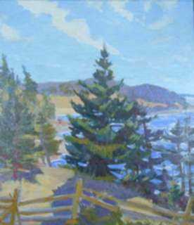 Painting by Beatrice Whitney Van Ness: View into Maine Pasture, represented by Childs Gallery