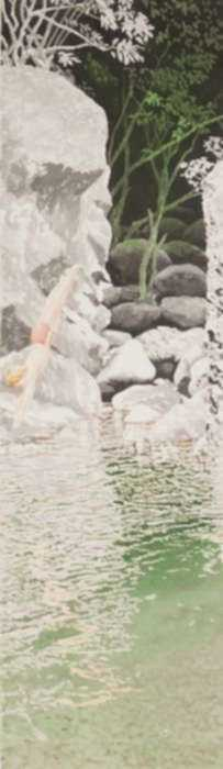 Watercolor by Ben Norris: Dive (Chinese Landscape VIII), represented by Childs Gallery