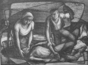 Print by Benton Spruance: A Wind is Rising and the Rivers Flow, represented by Childs Gallery