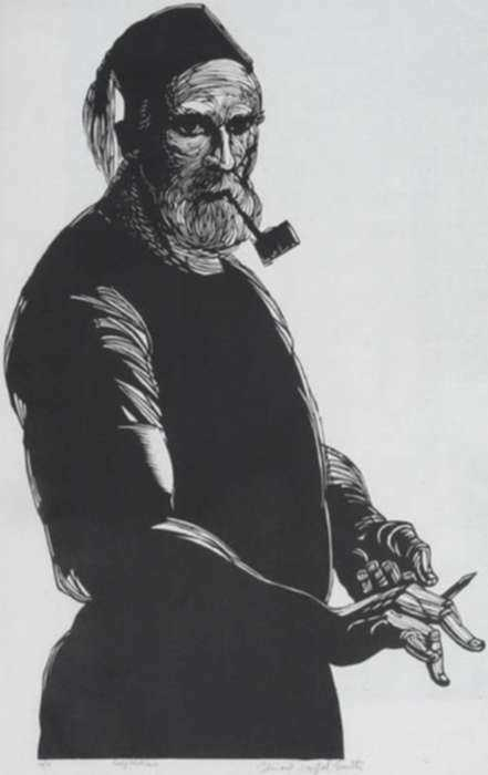 Print by Bernard Brussel-Smith: Self Portrait [7], represented by Childs Gallery
