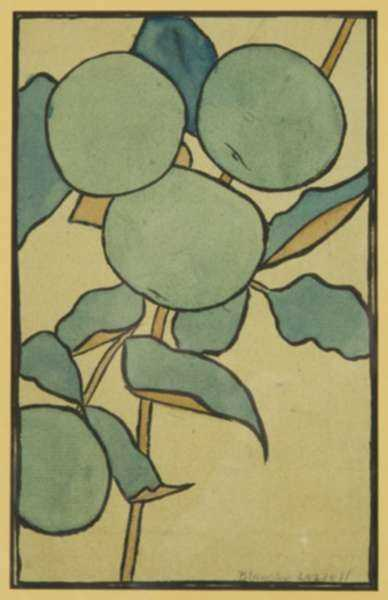 Watercolor by Blanche Lazzell: [Study for Woodcut], represented by Childs Gallery