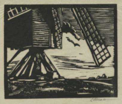 Print by British School: [The Windmill], represented by Childs Gallery