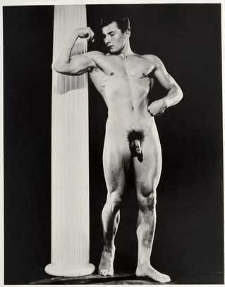 Photograph By Bruce Of Los Angeles: [nude Posing With A Column] At Childs Gallery