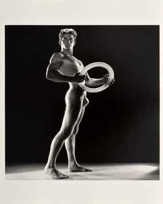 Photograph By Bruce Of Los Angeles: [nude With Disk] At Childs Gallery