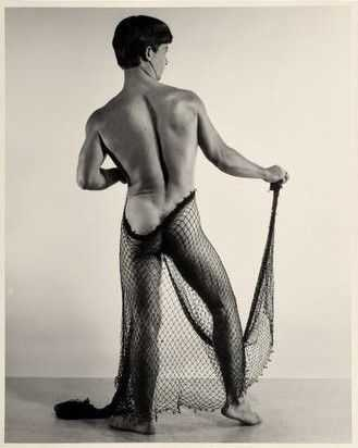 Photograph By Bruce Of Los Angeles: [nude With Fishing Net] At Childs Gallery