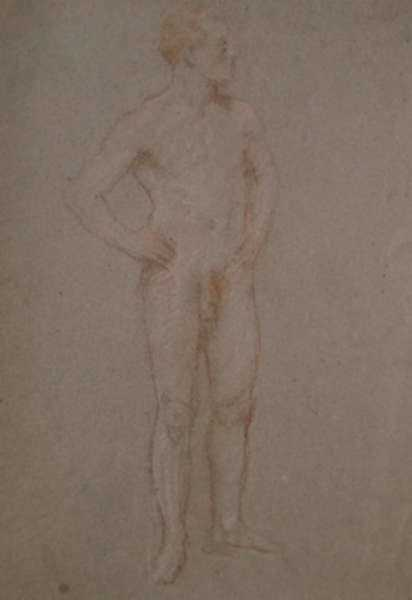 Drawing by Bryson Burroughs: [Nude Male Figure], represented by Childs Gallery