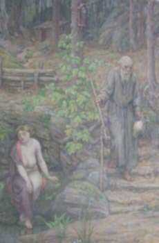 Painting by Bryson Burroughs: Merlin and Neumine, represented by Childs Gallery