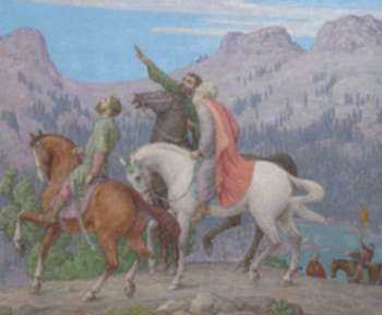 Painting by Bryson Burroughs: The Quest of the Three Wise Men, represented by Childs Gallery