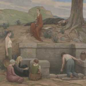 Painting By Bryson Burroughs: The Well Of Merlin At Childs Gallery