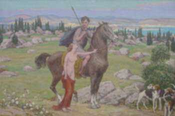 Painting by Bryson Burroughs: Venus and Adonis, represented by Childs Gallery
