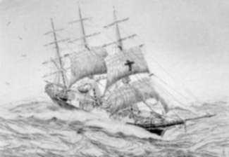 Print by C. J. A. Wilson: Dreadnought, represented by Childs Gallery
