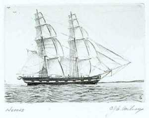 Print by C. J. A. Wilson: Nereus, represented by Childs Gallery