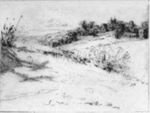 Print by Cadwallader Washburn: Borda Gardens in Distance, Cuernavaca (Mexico series), represented by Childs Gallery