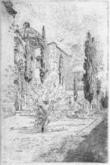 Print by Cadwallader Washburn: Garden of La Valencia [Mexico], represented by Childs Gallery