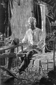 Print by Charles E. Pont: Link Jones, Basketweaver, represented by Childs Gallery