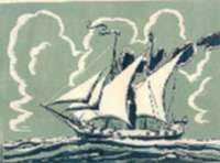 Print by Charles E. Pont: USS Demo Logo, represented by Childs Gallery