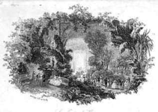 Print by Charles François Daubigny: Le Jardin d'Hiver, represented by Childs Gallery