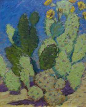 Painting by Charles Lewis Fox: Study of Cactus, represented by Childs Gallery
