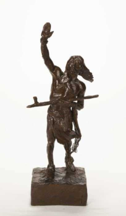 Sculpture by Charles M. Russell: Peace, represented by Childs Gallery