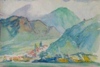 Watercolor by Charles Woodbury: Dominica, represented by Childs Gallery
