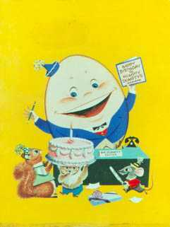Watercolor By Dan Lawler: Humpty Dumpty Children's Magazine Cover At Childs Gallery