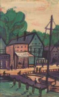 Print by David Burke: Back Bay, represented by Childs Gallery