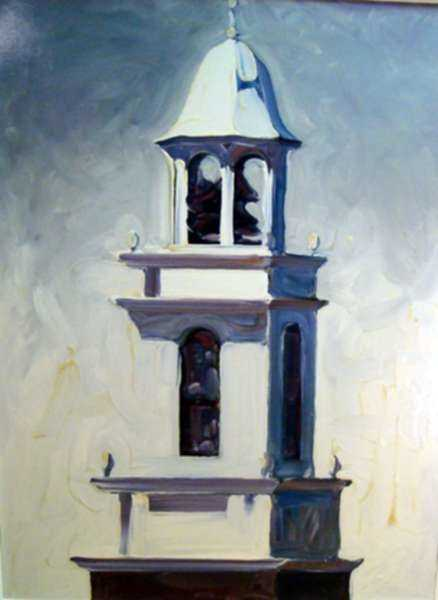 Painting by David D. Howlett: Clear Passage (Church in Manlius), represented by Childs Gallery
