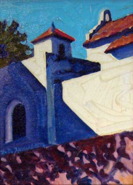Painting by David D. Howlett: Escuela de Ponce, represented by Childs Gallery