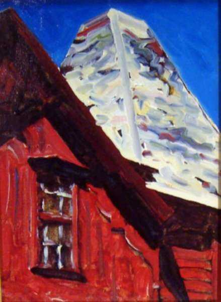 Painting by David D. Howlett: Hot Top, represented by Childs Gallery