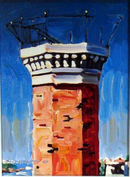 Painting by David D. Howlett: Torre Meteorlogical, represented by Childs Gallery