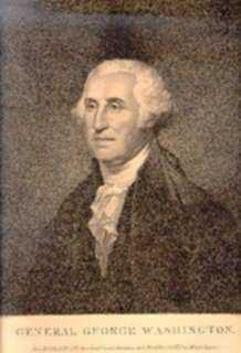 Print by David Edwin, After Rembrandt Peale: Portrait of George Washington, represented by Childs Gallery
