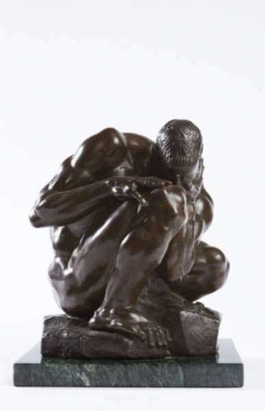 Sculpture by Donald De Lue: Adam [and Eve], represented by Childs Gallery